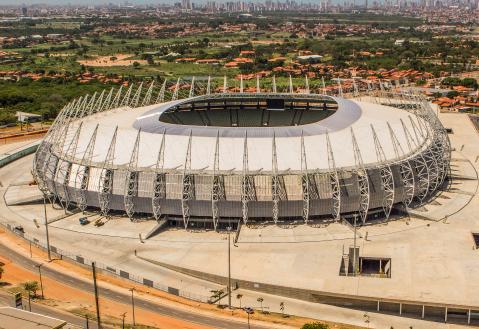 arena castelão, estádio construído em 1973, em fortaleza, no ceará