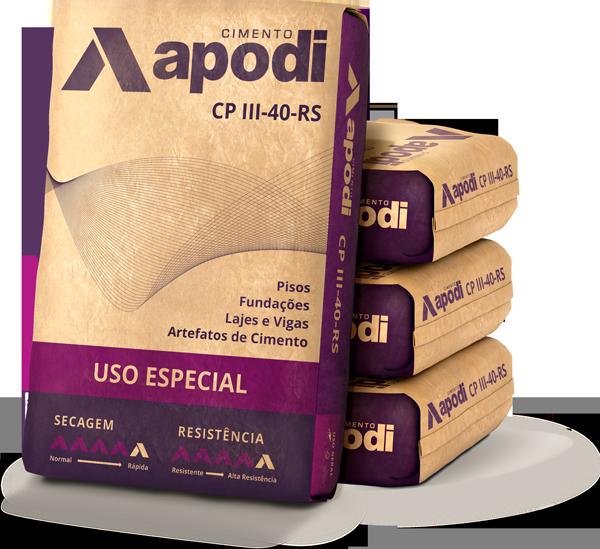 embalagem do produto cp-iii-40-rs, um dos cimentos da apodi